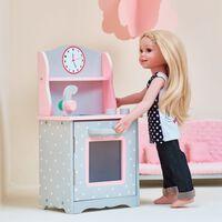 Olivias World Baby Doll Wooden Furniture Dolls Play Kitchen Cooker TD-