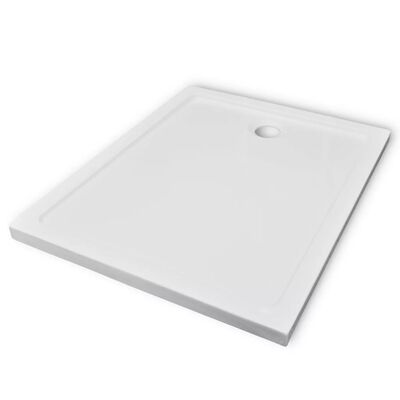 vidaXL Rectangular ABS Shower Base Tray 80 x 100 cm