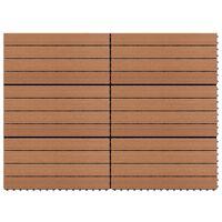 vidaXL WPC Tiles 60x30 cm 6 pcs 1m² Brown