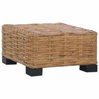 vidaXL Coffee Table 47x47x28 cm Natural Rattan