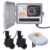 vidaXL Water Irrigation Controller with Moisture Sensor&Solenoid Valve