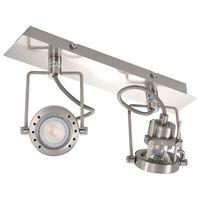 vidaXL 2-Way Spot Light Silver GU10