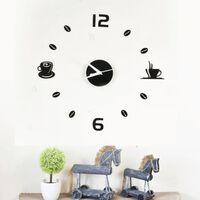 Walplus Wall Sticker Clock with Coffee Art