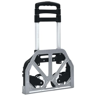 vidaXL Foldable Transport Trolley 70 kg Aluminium Sliver