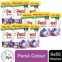Persil 3in1 Capsules, Colour, 9 Pack Of 50 Wash - Total 450 Washes