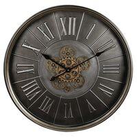 Gifts Amsterdam Wall Clock Radar Round Antique Silver 60cm