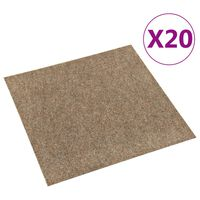 vidaXL Floor Carpet Tiles 20 pcs 5 m² Beige