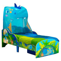 Worlds Apart Toddler Bed with Drawer Dinosaurs 142x77x138cm Blue and Green