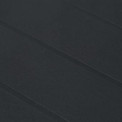 vidaXL Garden Table Anthracite 220x90x72 cm Plastic Rattan Look