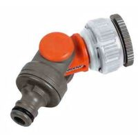 1-3/4 Inch Gardena Angled Rotating Swivel Garden Tap Connector Adaptor