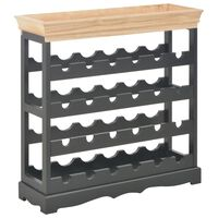 vidaXL Wine Cabinet Black 70x22.5x70.5 cm MDF