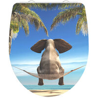 SCHÜTTE Duroplast High Gloss Toilet Seat with Soft-Close HAPPY ELEPHANT