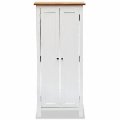 vidaXL Media Storage Cabinet 50x22x122 cm Solid Oak Wood