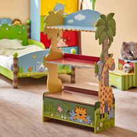 Kids Sunny Safari Bookcase by Fantasy Fields Wooden Book Shelf Book Ti