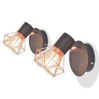 vidaXL Wall Lamps 2 pcs with 2 LED Filament Bulbs 8 W
