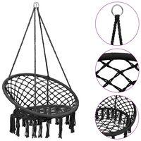 vidaXL Hammock Swing Chair 80 cm Anthracite