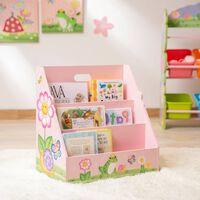 Kids Bookcase Childrens Magazine Rack Tidy Magic Garden Fantasy Fields