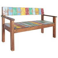vidaXL Bench 115 cm Solid Reclaimed Wood