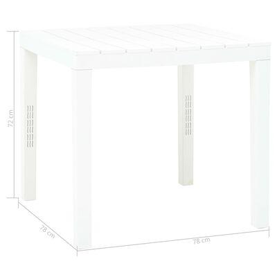vidaXL Garden Table White 78x78x72 cm Plastic