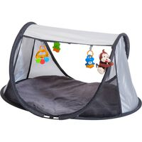 DERYAN Pop-up Play Gym with Mosquito Net Silver