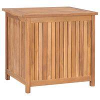 vidaXL Garden Storage Box 60x50x58 cm Solid Teak Wood