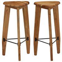 vidaXL Bar Stools 2 pcs Solid Acacia Wood