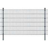 vidaXL 2D Garden Fence Panels & Posts 2008x1230 mm 22 m Grey