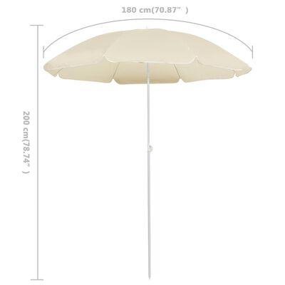 vidaXL Outdoor Parasol with Steel Pole Sand 180 cm