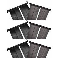 vidaXL Solar Pool Heater Panel 6 pcs 80x620 cm