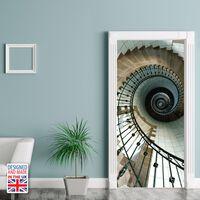 Walplus Door Mural Sticker Spiral Stairs, Home Decoration, Decal