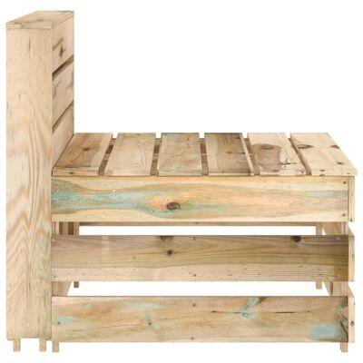 vidaXL 8 Piece Garden Lounge Set Green Impregnated Pinewood