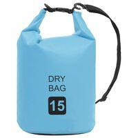 vidaXL Dry Bag Blue 15 L PVC