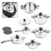 HI Cookware Set 13 pcs Silver