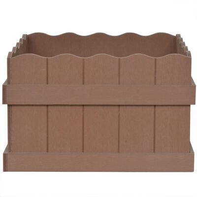 vidaXL WPC Garden Raised Bed 40x40x25 cm Brown