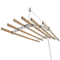 Clothes Airer Ceiling Pulley Maid Traditional Dryer 6 Lath 1.2m White