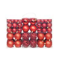 vidaXL 100 Piece Christmas Ball Set 6 cm Red