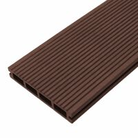 Composite Decking Boards Edging Wood Plastic / 6 SQM Conker Brown
