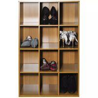 PIGEON HOLE - 12 Pair Shoe Storage / Display / Media Shelves - Oak