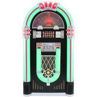 MonsterShop Retro Jukebox Floor Standing Vinyl Record PlayerCD MP3 AUX