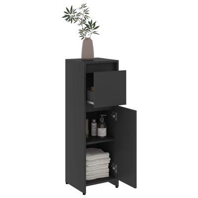vidaXL Bathroom Cabinet Grey 30x30x95 cm Chipboard