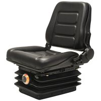 vidaXL Forklift & Tractor Seat with Suspension and Adjustable Backrest