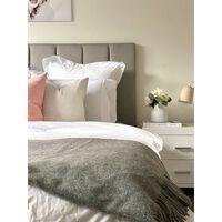 Codu Brighton 100% Nz Wool Grey Melange Throw