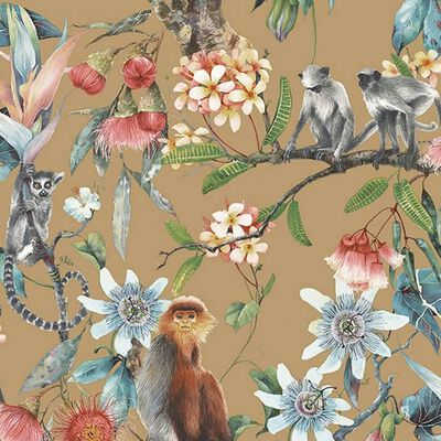 This wallpaper Exotic Monkeys is part of the Noordwand basic wallpaper line where you can find wallpapers for every type of room and everybody's taste.