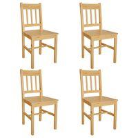vidaXL Dining Chairs 4 pcs Pinewood