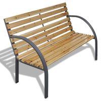 vidaXL Garden Bench 120 cm Wood and Iron