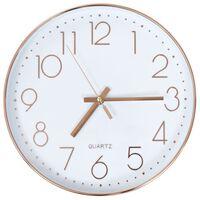 vidaXL Wall Clock 30 cm Rose Gold