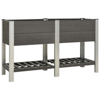vidaXL Garden Raised Bed with Shelf 150x50x90 cm WPC Grey