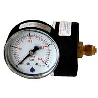 2.5 Bar Pressure Gauge Manometer 1/4 Inch Rear Entry 63mm