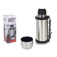 Stainless steel thermos flask 550ml with carrying strap - Insulated