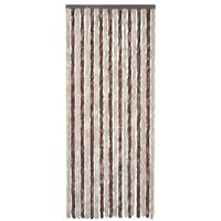 vidaXL Insect Curtain Beige and Light Brown 90x220 cm Chenille